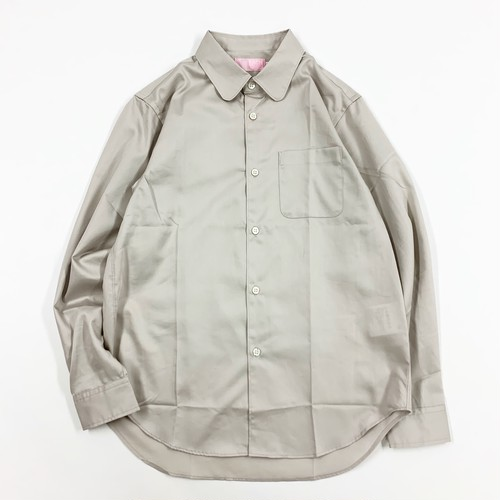 EACHTIME./COTTON SATIN ROUND COLLAR SHIRTS_GRAY.