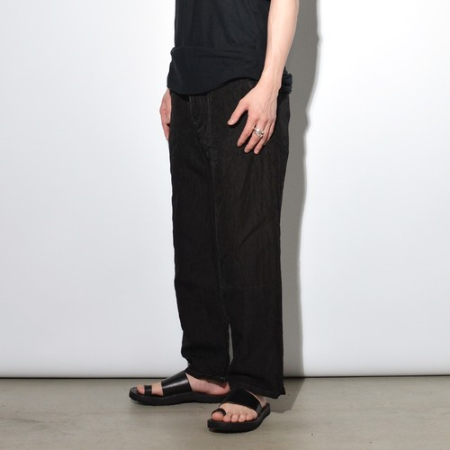 "Leather Cupra ""Wide"" Pants 〈Black総柄〉"