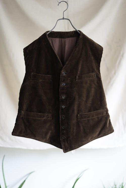 <SOLD OUT>Corduroy Work Vest 1920's (dead stock) - French Vintage