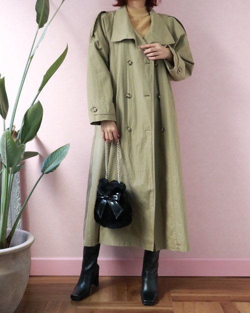 vintage khaki trench coat
