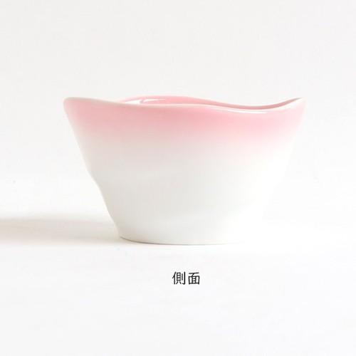 ろくべい小鉢(口径9.0×高さ5.2cm) ぼかしピンク【2959-2720】