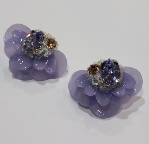 【ピアス.9】phantomFLOWER crystal