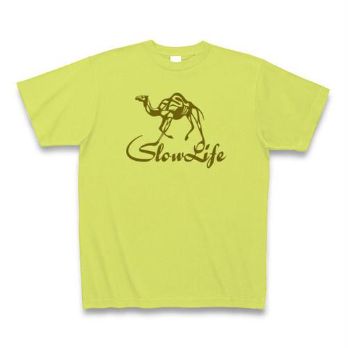送料無料 スローライフなラクダ/キャメル(動物)オリジナル メンズTシャツ