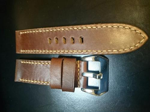 Sold)PANERAI用 ハンドメイド時計Strap 24mm Dark Brown ⑨