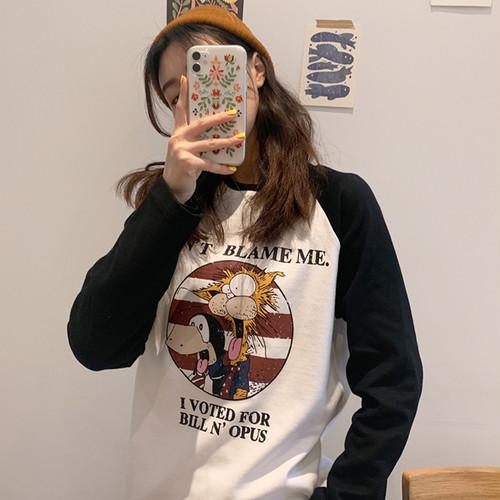 【トップス】長袖ins春秋韓国風原宿BF学生ゆったり合わせやすいシャツ