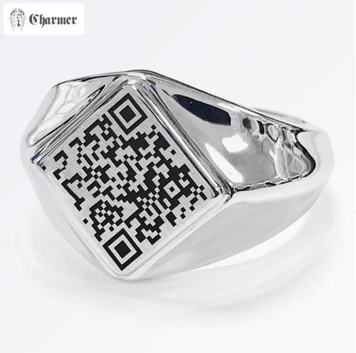 QRリング2 SV【QR指輪セミオーダー】