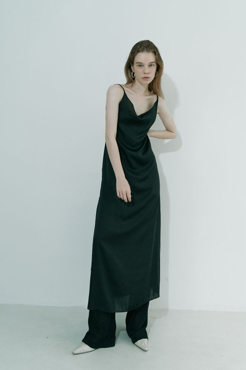 Slip long dress / Black