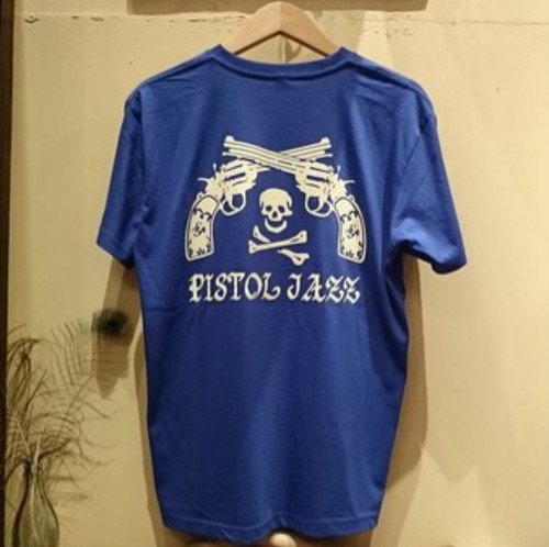 PISTOL JAZZ/BIG LOGO T-shirts BLUE