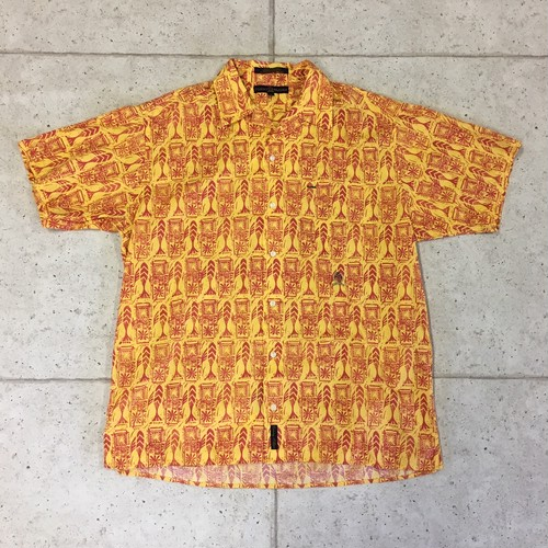 90s  TOMMY HILFIGER  コットン アロハシャツ size:S