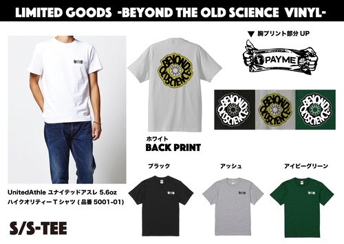 -Pre-Order- BEYOND THE OLD SCIENCE × PAYME TEE-SHIRTS (WHITE/ASH/IVY GREEN)