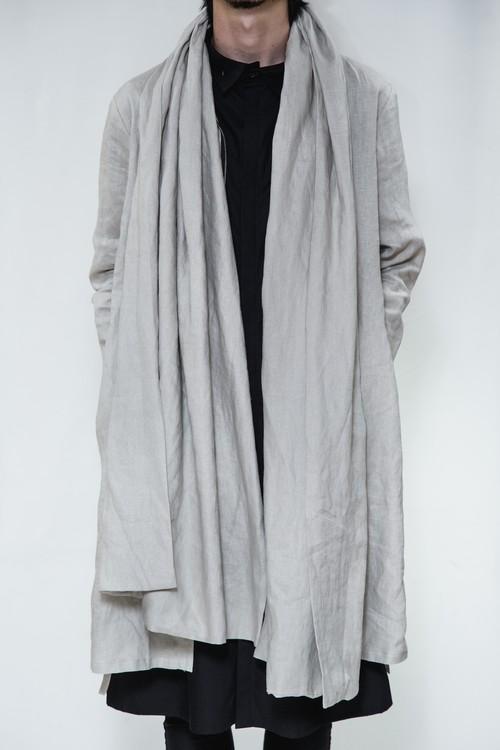 18SS Linen Stole Coat Sand Beige