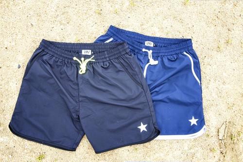 piping board shorts / Navy