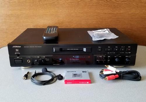 MD レコーダー Victor XM-D200 リモコン付き・録音良好・完動品