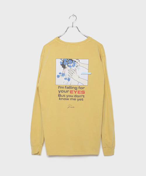 Pigment Kevin Longsleeve T-shirt [Mustard]