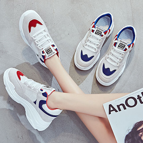 【sneakers】Ins Hot sports Korean style breathable running sneakers