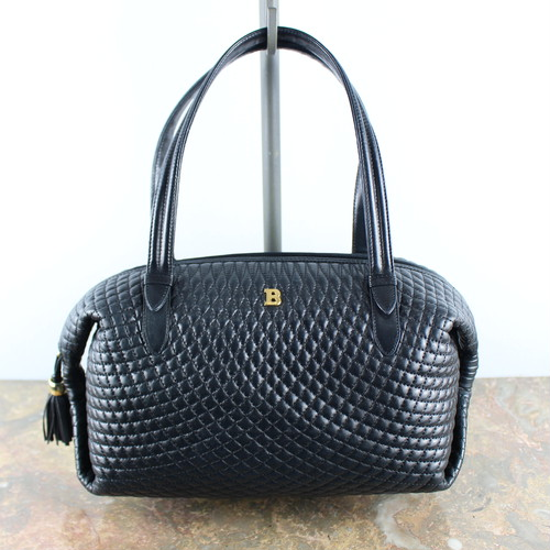 .VINTAGE BALLY QUILTING LEATHER HAND BAG MADE IN ITALY/ヴィンテージバリーキルティングレザーハンドバッグ 2000000050300
