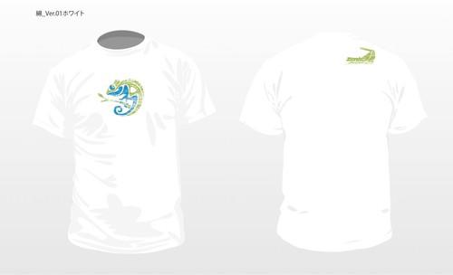 TeamZenkoカメレオンコットンTシャツ ホワイト