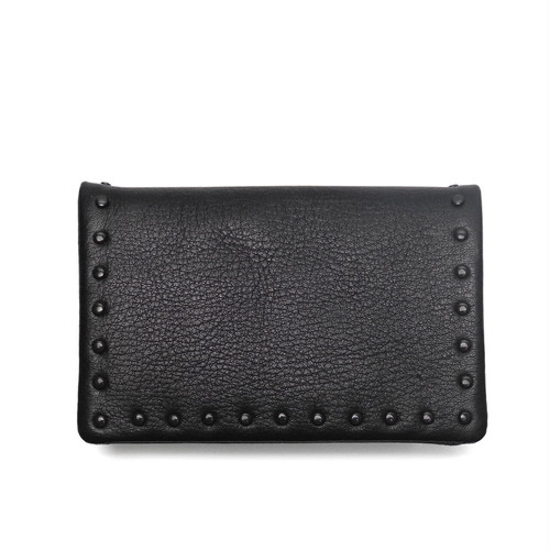 183AAO23 Leather card case 'corner studs' KS カードケース