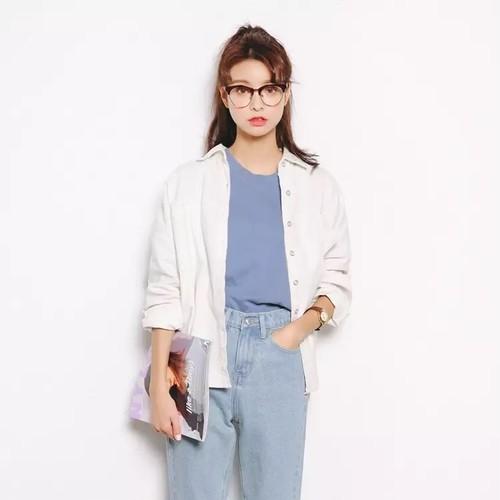 ダブルポケットコーデュロイシャツ・ホワイト