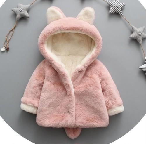 1600秋冬厚手子供 キッズ 赤ちゃんコート ベビー服 男の子 女の子厚手コート ファー 中綿 フード付き 裏起毛