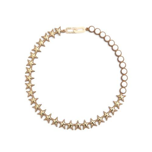 talkative Banquet/Banquet bijou necklace star metal,Metal×Chalk white