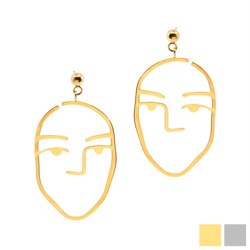 face design pierce/earring