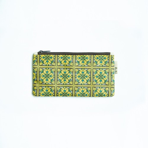 Ashi|亜紙 Flat Pouch M*Tile Yellow 紙ポーチ タイル