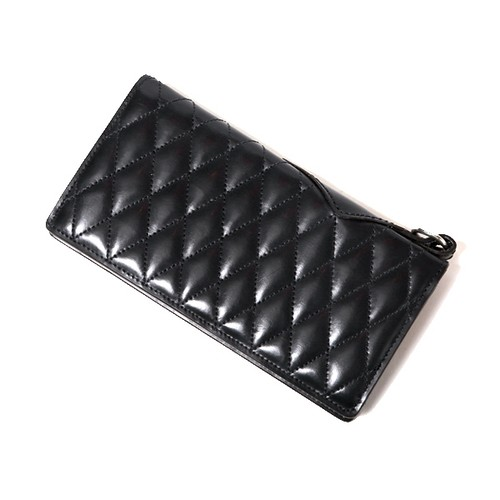 OUTSIDERS DIA QUILTED LEATHER WALLET <PORTER COLLABORATION>(BLACK) / RUDE GALLERY BLACK REBEL