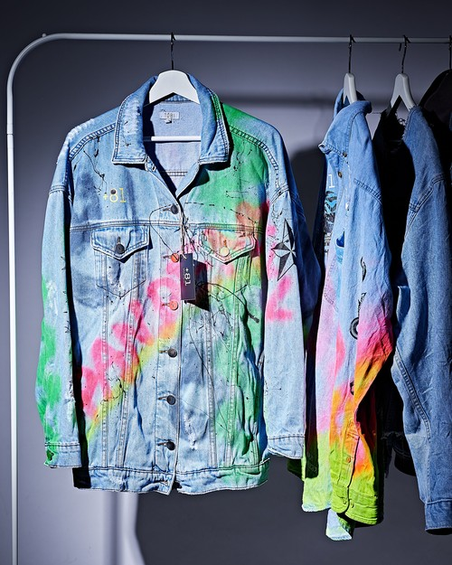 Spray denim jacket