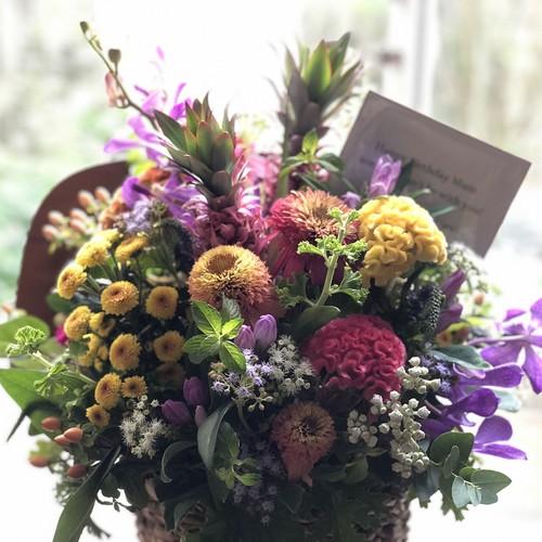 季節の花カゴ L (ホグラバスケット)