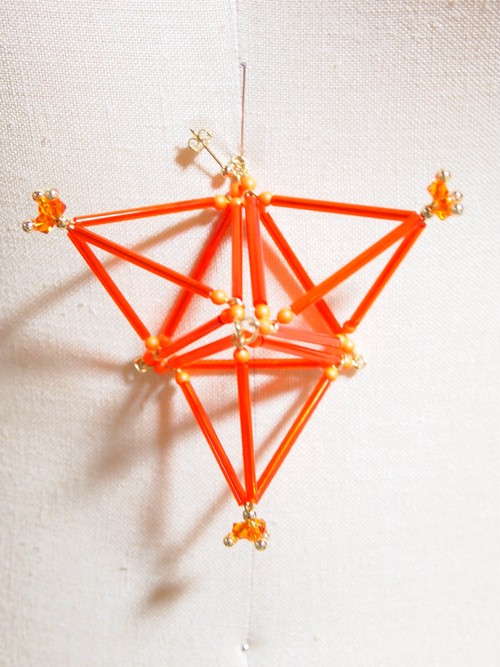 Three-dimensional Triangle(big) PIERCE[Orange]
