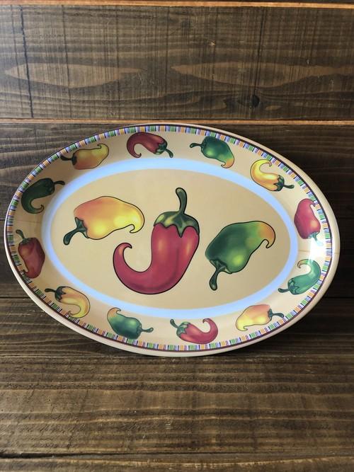 MEXICAN CHILI PEPPER PLASTICS PLATE/ チリペッパー とうがらし メキシカン お皿 プレート