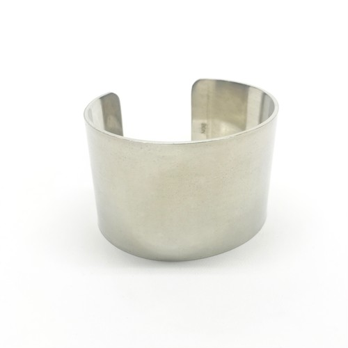 amp japan/German Silver Plane Bangle -Wide-