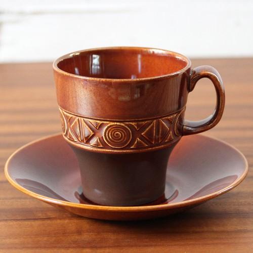 1960年代 イギリス Beswick Pottery Zorba Brown カップ&ソーサー ベスウィック ゾルバ