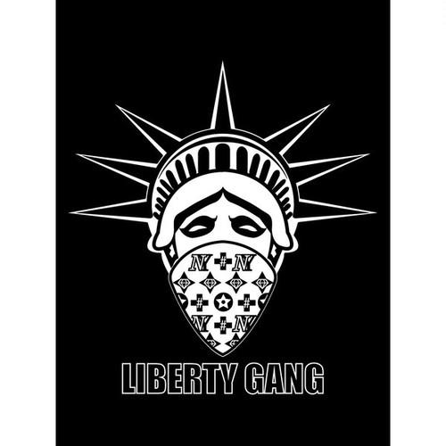 リバティーギャング Tシャツ TEE B系 B系ファッション メンズ ヒップホップ ダンス HIPHOP 半袖 ヘビーウェイト S M L XL XXL 2XL 大きいサイズ ビッグサイズ 231
