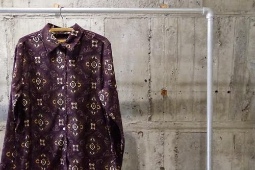 Design fake suede pattern shirt(USED)