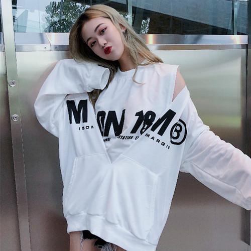 【トップス】2点セット新作韓国風ファッションアルファベット長袖ラウンドネックパーカー