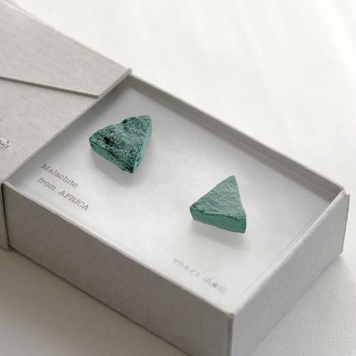 Stone Letter / pierce - マラカイト