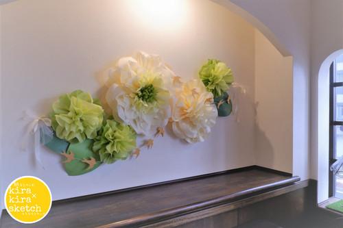 ジャンボフラワー(65㎝・55㎝・35㎝×3輪)壁面装飾セット