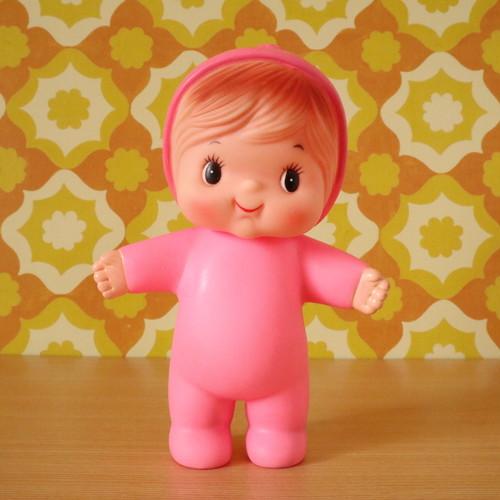 ソフビ人形 ピープー 赤ちゃん 昭和レトロ