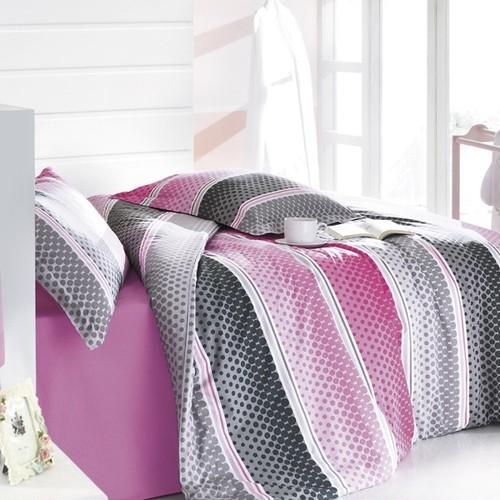 トルコ製 ダブル ベッドカバー 4点セット AGAT ピンク