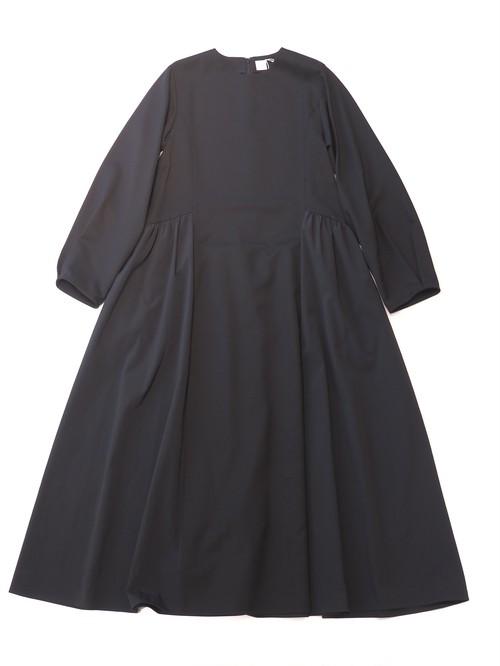 【ELIN】Long sleeve combi flare dress