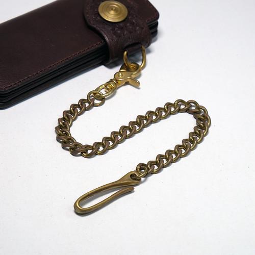 真鍮(ブラス)ウォレットチェーン:バレル加工済み 3.5mm 面取り 喜平(キヘイ)チェーン