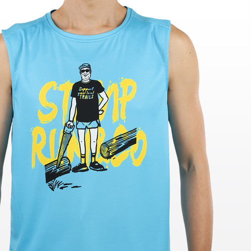 STAMP RUN & CO / STAMP GRAPHIC TANK (Support your local trails)
