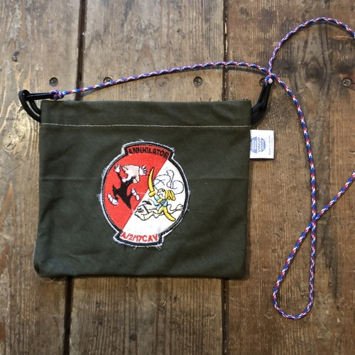 Vintage Tent Cloth Sacoche with patch, Annhilator