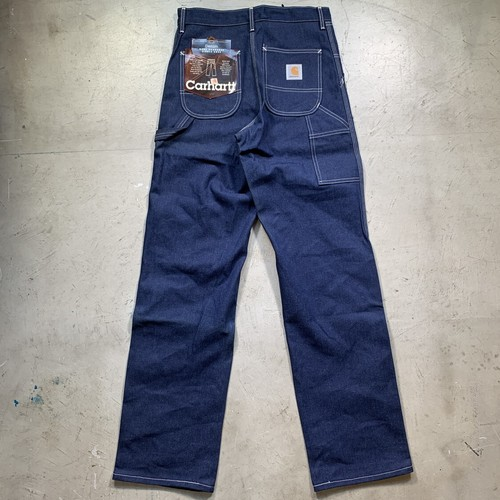 80's~ Carhartt カーハート デニムペインターパンツ デッドストック NOS フラッシャー付き CRAFTED WITH PRIDE IN USA W30 USA製 希少 ヴィンテージ BA-1517 RM1936H