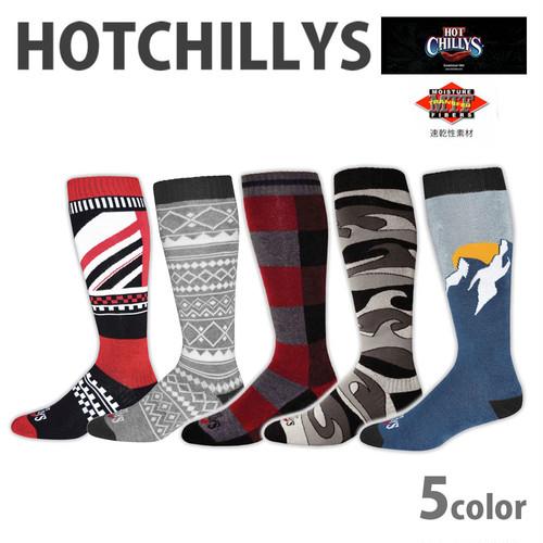 HOT CHILLYS (ホットチリーズ) メンズ フィエスタス ソックス 男性用 冬 スキー スノボ アウトドア 雪山 ノルディック 靴下