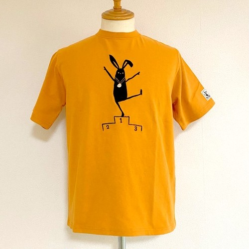 Podium Shabby Embroidery T-shirts Ocher