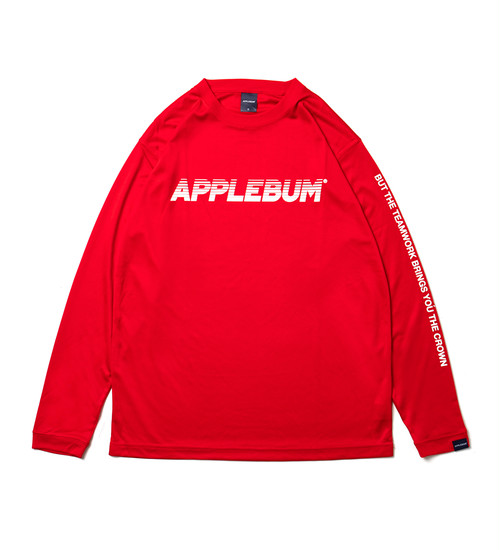 【APPLEBUM】アップルバム Elite Performance Dry L/S T-shirt (RED)  メンズL/S Tシャツ