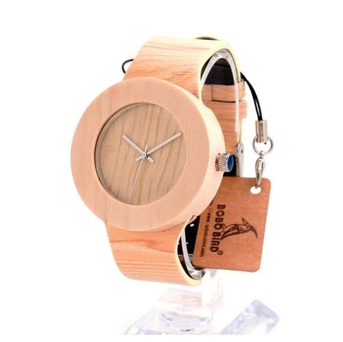 BOBO BIRD 木製腕時計 シンプルデザイン クォーツウォッチ Pine